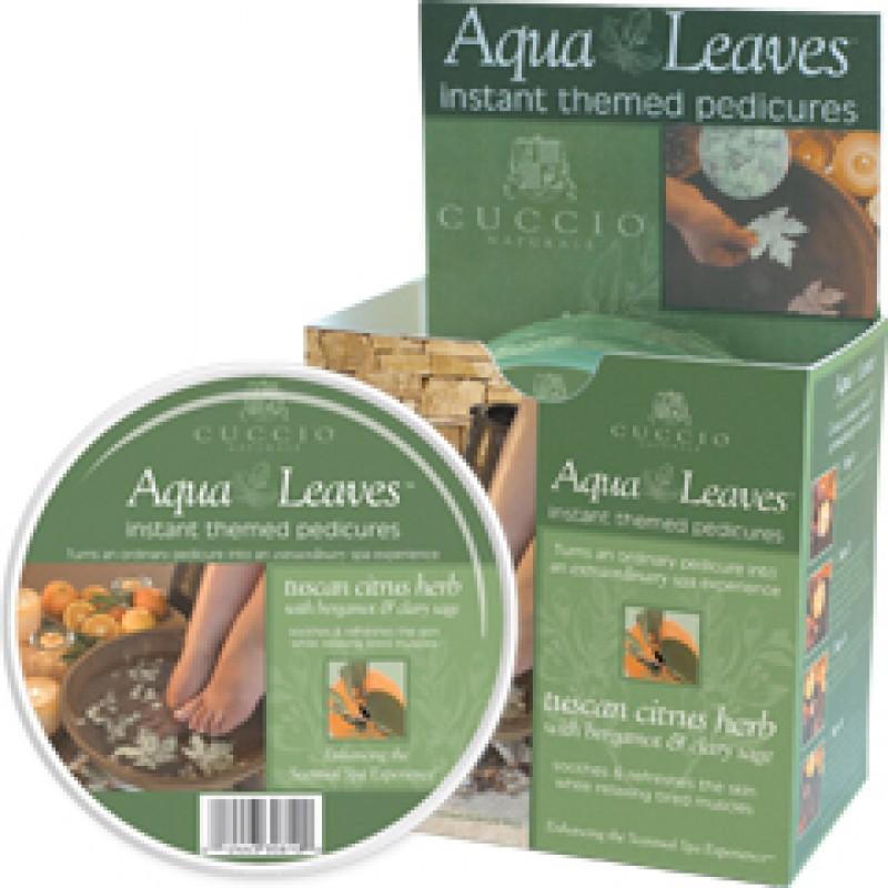 Tuscan Citrus Herb Aqua Leaves,CUCCIO